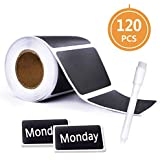 Chalkboard Labels-120 pcs Waterproof Reusable Blackboard Stickers with 1 Free Erasable Chalk Pen for Mason Jars, Parties, Craft Rooms, Weddings, Store and Decoration and Organize Your Home & Kitchen