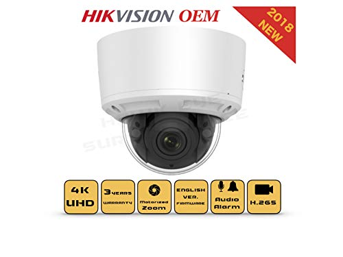 4K PoE Security IP Camera - Compatible with Hikvision DS-2CD2785FWD-IZS UltraHD 8MP Vari-Focal EXIR Dome Onvif Weatherproof 2.8-12mm Motorized Lens Best Home Business Security 3 Year Warranty