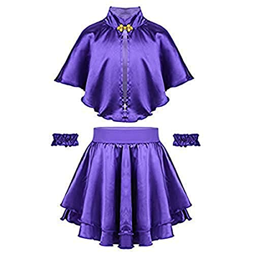 winying Girls Role Play Costume Purple Cape with