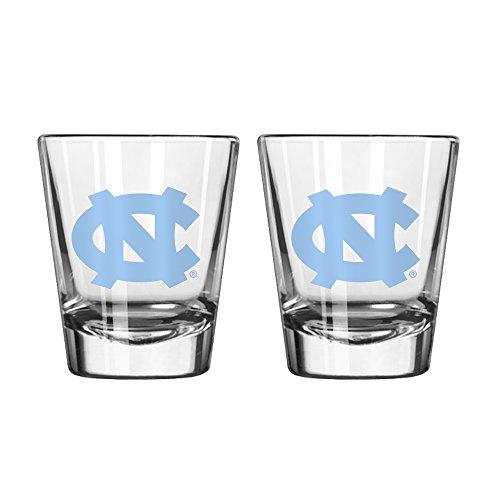 NCAA North Carolina Tar Heels Game Day Shot Glass, 2-ounce, - North Glasses