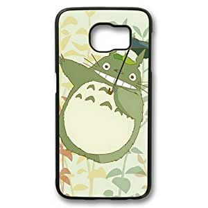 E-luckiycase My Neighbor Totoro-4 PC Hard Shell Black Edges Case for Samsung Galaxy S6