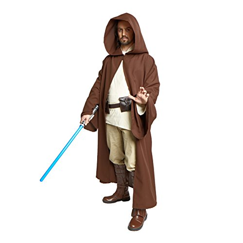 Largemouth Men's Jedi Sith Robe Cloak Costume Brown Black (L/XL (60 ()
