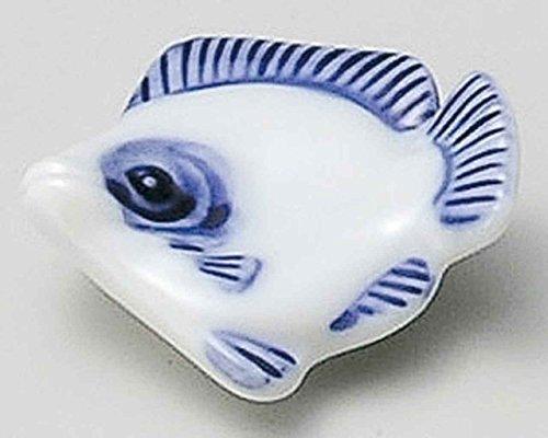 Flatfish 2inch Set of 2 Chopstick Rests White porcelain Made in Japan