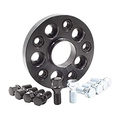 Wheel Accessories Parts 1 Bolt-on Spacer Kit 5x120 to 5x120 Bolt Pattern 72.56 Hub Bore Fit Vehicle with M12x1.5 Thread. Complete Kit with Lug Bolts (Sold as Each) (20mm Thick, Black Lug Bolts): Automotive