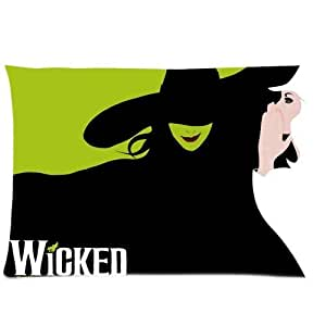 Custom WICKED The Musical Broadway Pillowcase Standard Size 20*30Inch(Approximate 50*76 cm) Design Cotton Pillow Case