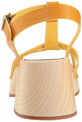 Heeled Hasbeens Swedish Sandal Yellow Warm Women's Birgit qRwdwZt