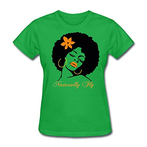 Afro Diva Naturally Fly Women's T-Shirt by Spreadshirt, XL, bright (Diva Green T-shirt)