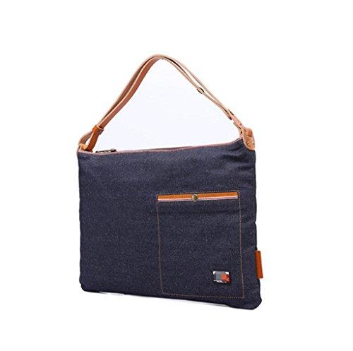 Sucastle Retro Tasche lässig Tasche Schultertasche Messenger Bag Tragetasche Sucastle Farbe: Marineblau Größe: 45x33x8cm