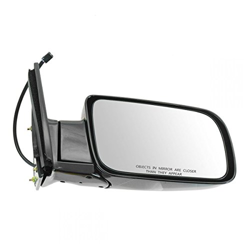 (Mirror Side View Power Black Folding Passenger Right for Chevy GMC Pickup)