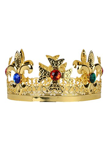 Metal King's Adult Gold Tone Crown with
