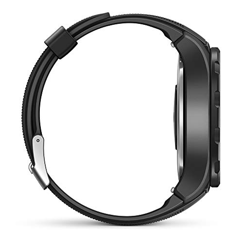 Huawei Watch 2 Smartwatch, 4G/LTE, 4 GB Rom, Wear OS by Google, Bluetooth, WiFi, Monitoraggio della Frequenza Cardiaca, Nero (Carbon Black)