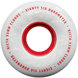 Ricta Clouds White / Red Skateboard Wheels - 53mm 86a (Set of 4)