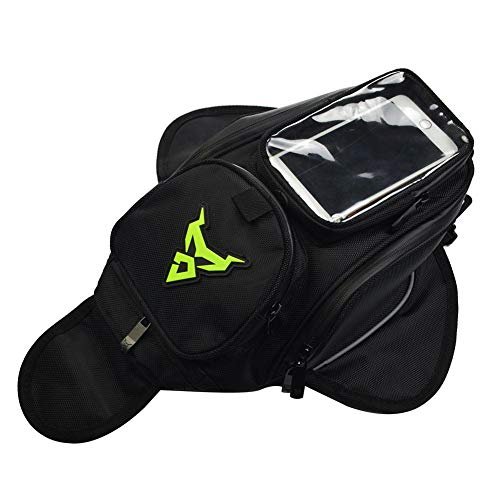 LianLe Motorcycle Tank Bag,Waterproof Small Fuel Tank Bag with Strong Magnetic for Riding Organizer,Oxford Outdoor Sport Bag (Green)