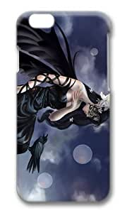 MOKSHOP Adorable Crow Girl Fantasy Art Hard Case Protective Shell Cell Phone Cover For Apple Iphone 6 Plus (5.5 Inch) - PC 3D by Maris's Diary