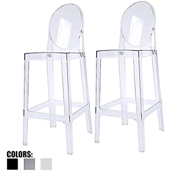 Amazon Com 2xhome Set Of Two 2 Clear 25 Quot Seat