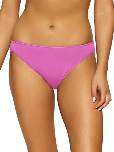 Panty Felina High Cut - Felina | So Smooth Hi Cut Panty | Hi Leg Opening | Micro Modal | Full Coverage (Rose Violet, Medium)