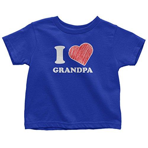 Mixtbrand Little Boys' I Love Grandpa Toddler T-Shirt 2T (Grandpa Kids T-shirt)