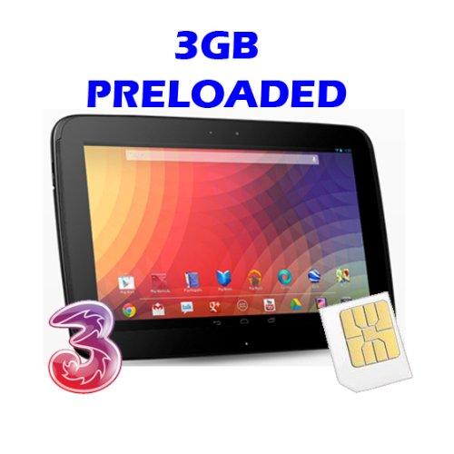 Tres Original Banda Ancha listo para 3 GB tarjeta micro SIM para ...