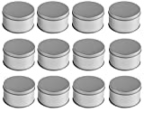 Juvale Middle Candle Tins (12-Pack); Metal Storage Containers. Dia:7.5cmH:4.5cm