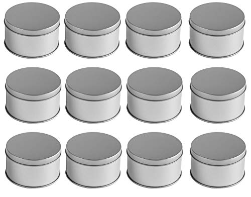 Juvale Middle Candle Tins (12-Pack); Metal Storage Containers. Dia:7.5cmH:4.5cm by Juvale