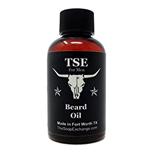 TSE for Men Beard Oil - Black Tux Scent - Hand Crafted 2 fl oz / 60 ml Deep Conditioner, Nourishing Softener, Natural Ingredients, Stop Itching, Made in the USA.