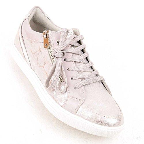 Marco Tozzi 2-2-73630-28-261 - Zapatillas para mujer Grey Metallic Comb