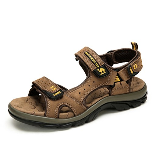 Camel Mens Cow Leather River Summer Beach Sandal Color Brown Size 38 M EU opUc7nhNYv