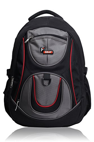 F Gear Axe Black Grey School Bag