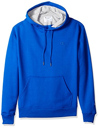 Classic Hooded Fleece Sweater - Champion Men's Powerblend Pullover Hoodie, Surf the Web, X-Large
