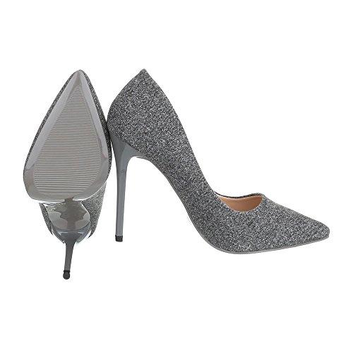 Ital-Design - Plataforma Mujer gris