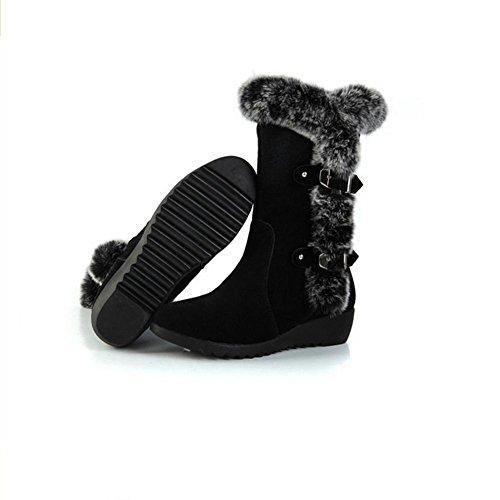Marrone con resistenza di mezzo HDonne e di della BLACK fibbia autunno cilindro inverno neve gomma nero H 38 antiscivolo del stivali smerigliato usura cintura di pendio 7g0axqwI