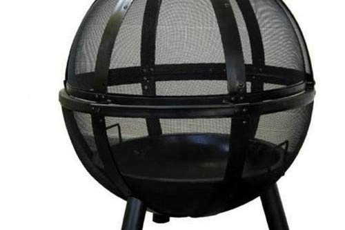 Landmann USA 28925 Ball of Fire Outdoor Fireplace, Black - Make sure this fits                by entering your model number. Outdoor fireplace with spherical spark screen Unobstructed 360-degree view of the fire - patio, outdoor-decor, fire-pits-outdoor-fireplaces - 41TIaIKRNPL -