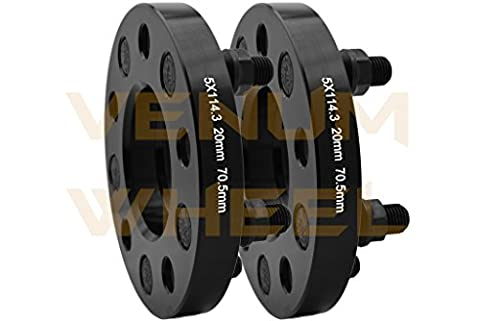 2 Pc New Model Ford Mustang Coyote Gt 5.0 2015 2016 2017 Black Hub Centric Wheel Spacers Adapters 20 mm Thick 3/4
