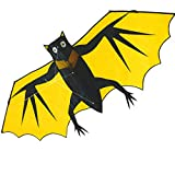 Kite for Kids and Adults - 58 Inch Huge Bat Kite Easy Flyer Assemble - Single Line 3D Nylon Kite for Boys and Girls for Fun Sport Outdoor Games