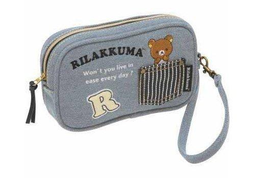 San-X Rilakkuma Mobile Pouch / Wristlet Wallet (digital camera pouch) denim style (CT90301)