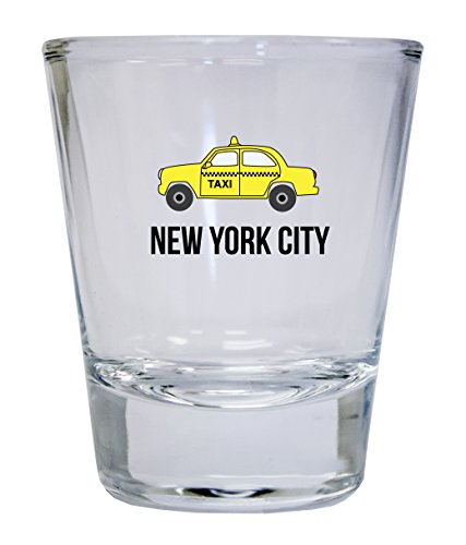 New York City New York NYC Statue of Liberty Brooklyn Manhattan Souvenir Round Shot Glass
