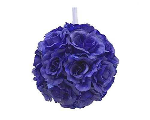X 4 Balls Kissing (4 X Hi Honey! Kissing Balls - Navy Blue Roses)