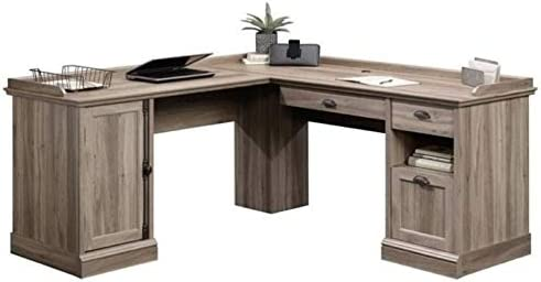 BOWERY HILL Antique Look Home Office L-Shaped Computer Desk