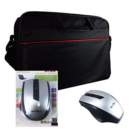 2in1 Starter Set Laptoptasche + Wireless Maus für Acer Chromebook R 11 CB5-132T-C4LB | Notebooktasche | Businesstasche - 2in1 LB Schwarz 4 + X16 9jiMoZBmF