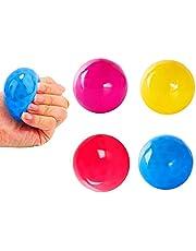 Plafondballen Glow in the Dark, Clicky Balls Luminescente Stress Relief Balls Speelgoed Decompression Doelbal Stick aan de muur voor kinderen en volwassenen (Color : 4pcs)