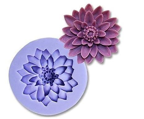 Allforhome - Molde de Silicona Diseño Flor de 5cm para Decoración de Tartas - Repostería Chocolate