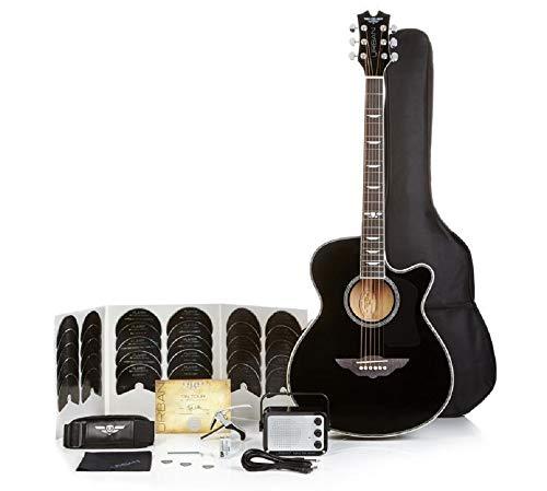 Keith Urban Acoustic Electric Guitar On Tour 40-pc Guitar Pkg, Rich Black, ()