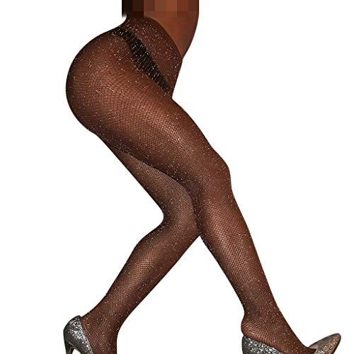 Masun Fashion Womens Net Fishnet stockings Diamonds Stockings Hollow Tights Stockings Fashion women's mesh Stockings