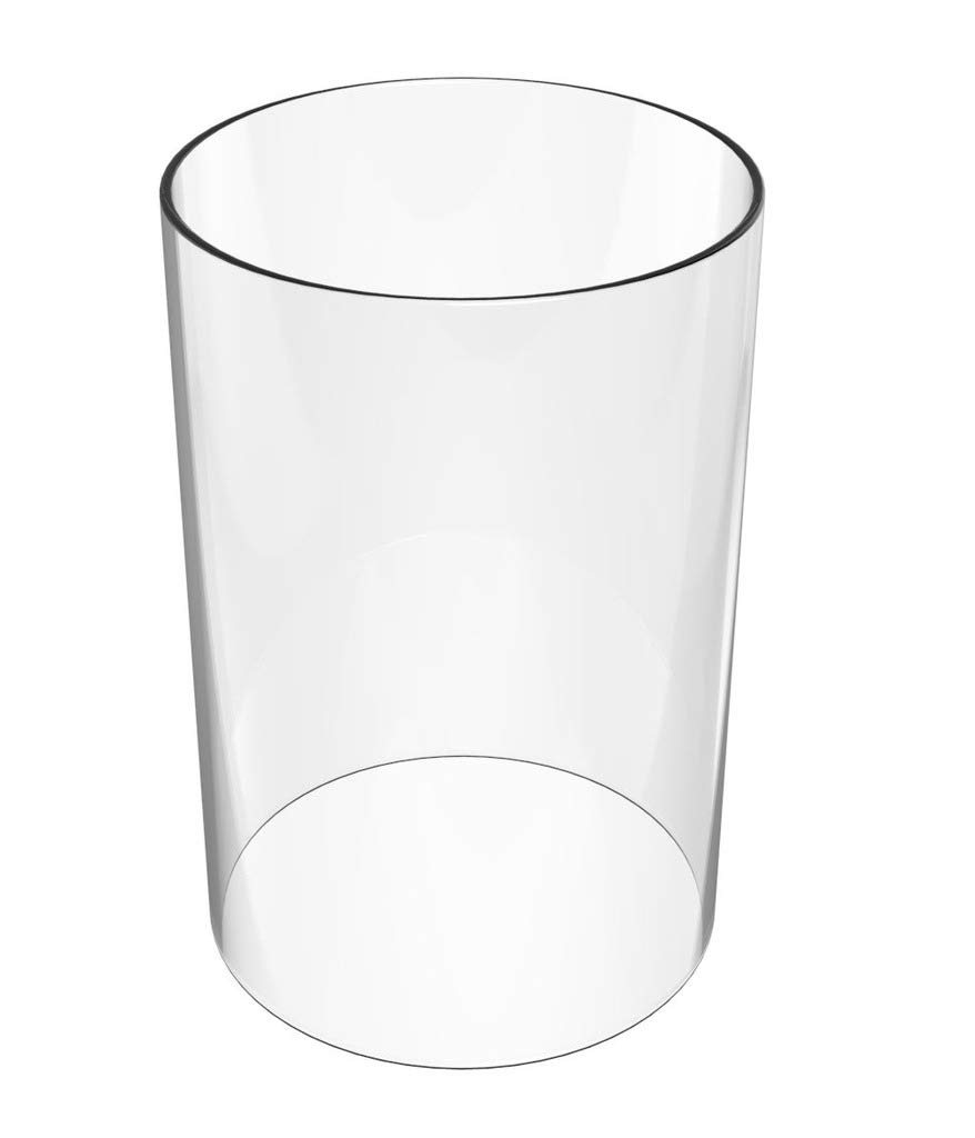 Amayan Lamp Shades Replacement - Borosilicate Glass Lampshade Open End - 8'' High 3.2'' Wide-fit Most of The Popular Candle- Borosilicate Clear Glass Candle Holder (Multiple Specifications)