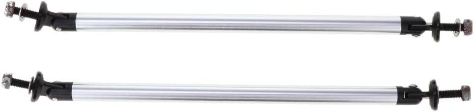 Universal Adjustable Front//Rear Bumper Lip Splitter Strut Brace Rod Support Bars Gold 150 mm B Baosity 2 STK