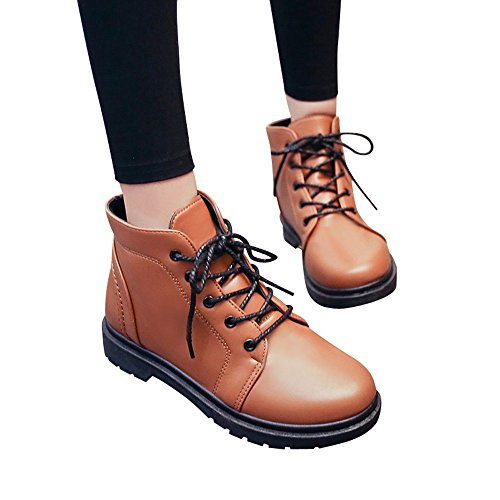 Clearance Sale! Women's Martin Boots Cinsanong Fashion Student Thick Heel Shoes Thick Short Boots