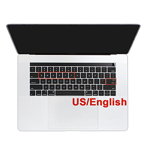 beaulyn Keyboard Cover Skin Protector Film for 2016 2017 2018 New Macbook Pro 13 15 Touch Bar Waterproof Dustproof Wearproof Silicone US Layout English with Letters Kids Adults