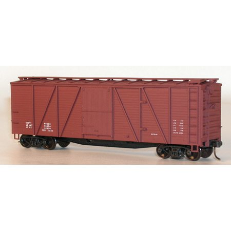 Accurail HO KIT 40' 6-Panel Wood Boxcar, Data/Oxide ACU7299