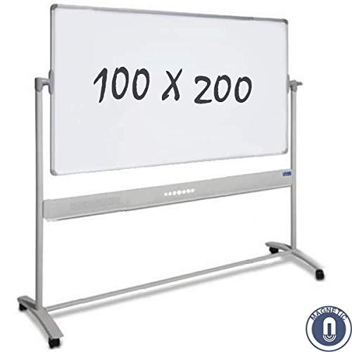 magnetica Lavagna bianca mobile double-face 100 x 200 cm