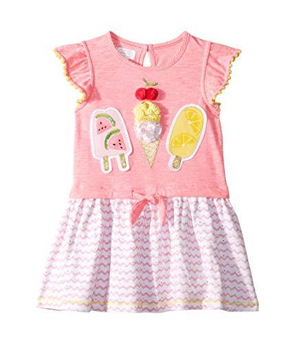 Mud Pie Baby Girl's Fun in The Sun Dress (Toddler) Pink 5T